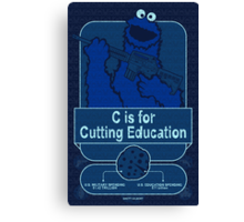 C is for Cutting Education Canvas Print