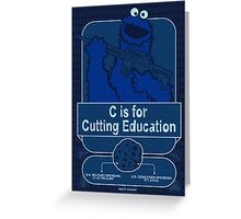 C is for Cutting Education Greeting Card
