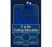 C is for Cutting Education Photographic Print
