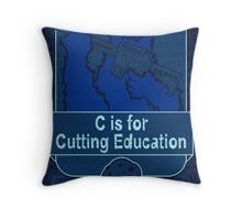 C is for Cutting Education Throw Pillow