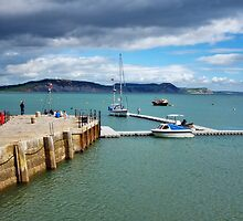 Quiet Along The Cobb ~ Lyme Regis by Susie Peek