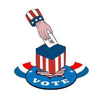 American Election Voting Ballot Box Retro by patrimonio