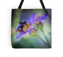 Bumblebee on Neon Flower Tote Bag