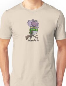 """respect the hat"" owl Unisex T-Shirt"
