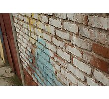 Wall In Oaxaca Photographic Print