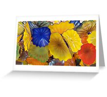 Mixed Floral Glass by Chihuly Greeting Card
