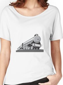 Steam Train Locomotive Retro Women's Relaxed Fit T-Shirt