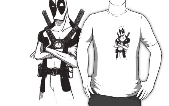 deadpool ink by imbolc-athame