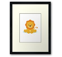baby lion Framed Print