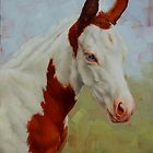Pretty Baby-Paint Foal Portrait by Margaret Stockdale