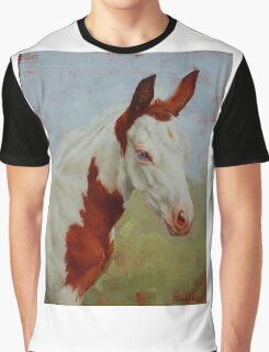 Pretty Baby-Paint Foal Portrait Graphic T-Shirt