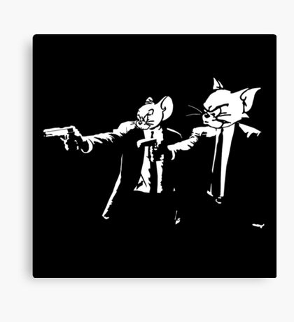 Vincent Mouse & Jules Cat Canvas Print