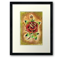 Tattoo Rose Watercolor #1 Framed Print