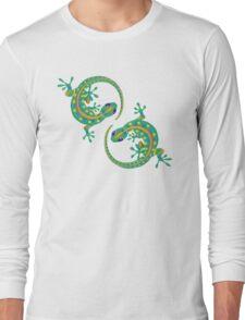 Daco Lizard Art T-Shirt Long Sleeve T-Shirt