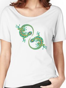 Daco Lizard Art T-Shirt Women's Relaxed Fit T-Shirt