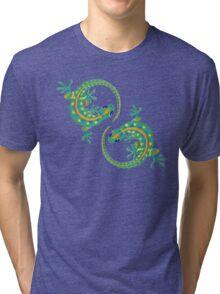Daco Lizard Art T-Shirt Tri-blend T-Shirt