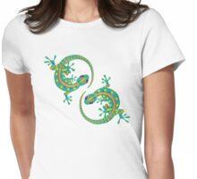 Daco Lizard Art T-Shirt Womens Fitted T-Shirt