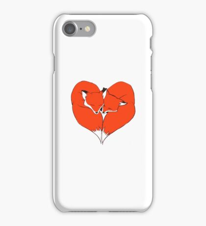 Foxes Mate for Life iPhone Case/Skin