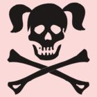 Crossbones Skull Pigtails by SportsT-Shirts