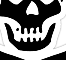 Crossbones Skull Pigtails Sticker