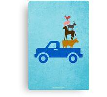 Little Blue Truck w/o Title Canvas Print