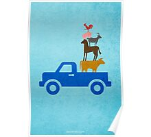 Little Blue Truck w/o Title Poster