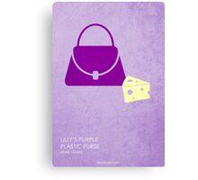 Lilly's Purple Plastic Purse Canvas Print