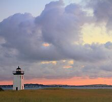 Dawn at Long Point Lighthouse by Roupen  Baker