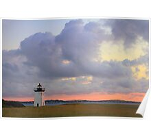 Dawn at Long Point Lighthouse Poster