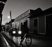 Night Rider in Trinidad de Cuba by Leanne Kelly