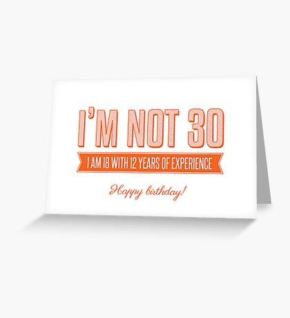 Happy 30th! Greeting Card