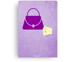 Lilly's Purple Plastic Purse w/o Title Canvas Print