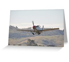 Hunter Valley Airshow 2015 Airshow - Mustang Take-off Greeting Card
