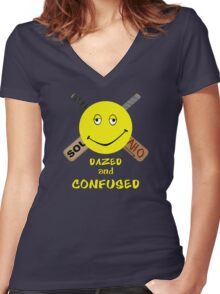 No More Mr. Nice Guy Women's Fitted V-Neck T-Shirt