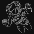 A Single Line Astronaut by joshmirm