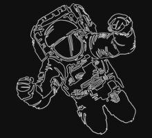 A Single Line Astronaut by joshmirm
