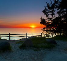 Sunset at Fisherman's Island State Park by Megan Noble