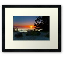 Sunset at Fisherman's Island State Park Framed Print