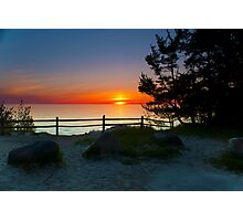 Sunset at Fisherman's Island State Park Photographic Print