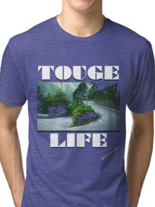 Touge Life (Rainy Knights Drift Crew)   Tri-blend T-Shirt
