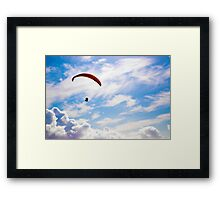 Glider in the sky Framed Print
