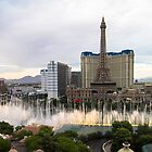 Las Vegas Bellagio water fountains by tazbert