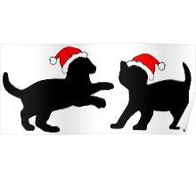 Christmas Kittens Poster