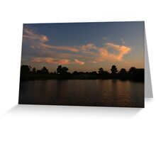 Another Lisle, IL Sunset Greeting Card