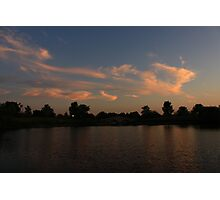 Another Lisle, IL Sunset Photographic Print