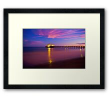 Summer Blue at Malibu Framed Print