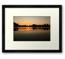 Oil Slick Sunset Framed Print