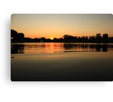Oil Slick Sunset Canvas Print