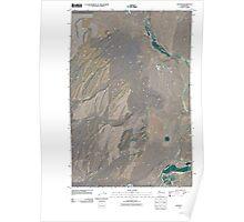 USGS Topo Map Washington State WA Hooper 20110404 TM Poster