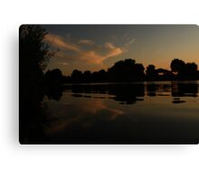 Sky in the Lake Canvas Print